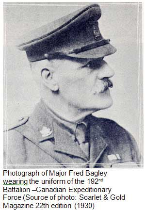 Photograph of Major Fred Bagley