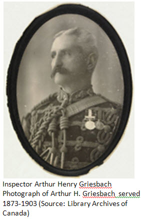 Photograph of NWMP Supt. Arthur Griesbach.