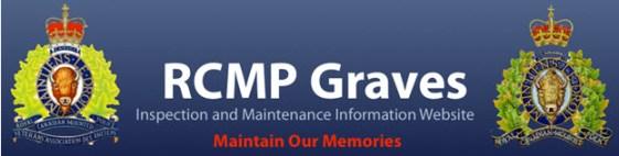 RCMP National Gravesite database website header