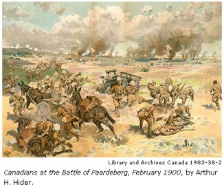 Photograph of Canadians in Action During the Boer War