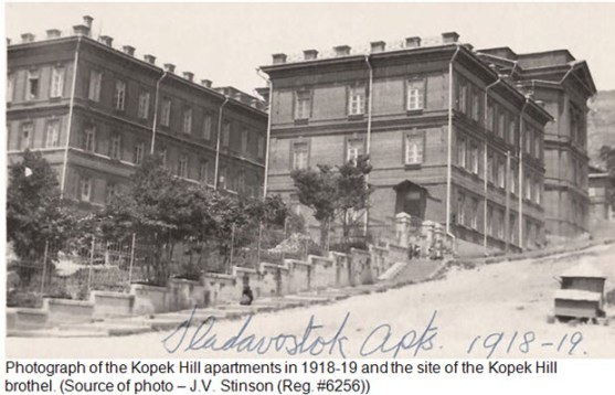 Kopek Hill Apartments - Vladivostok Siberia 1918-1919