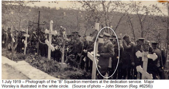 """B"" Squadron RNWMP at Memorial Service - June 1, 1919 Vladivostok Siberia"
