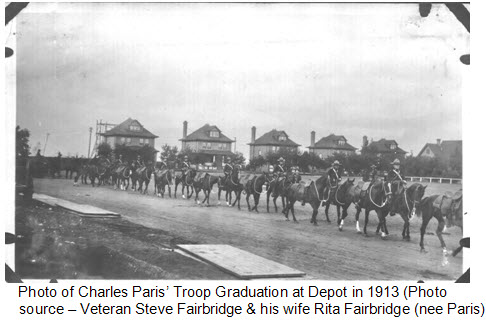 Photograph of Constable James N. Paris' graduation march past