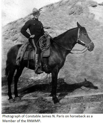Photograph of Constable James N. Paris (Reg. #5397) - RNWMP
