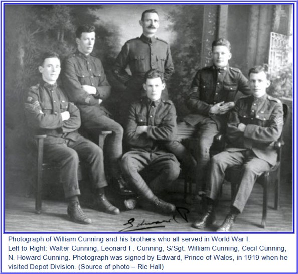 Photograph of William Cunning and his brothers