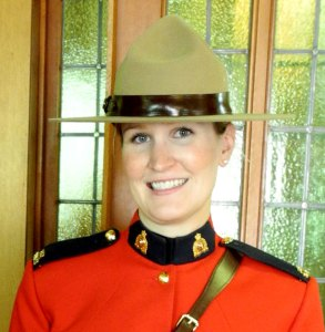 Photograph of RCMP Female member - side view