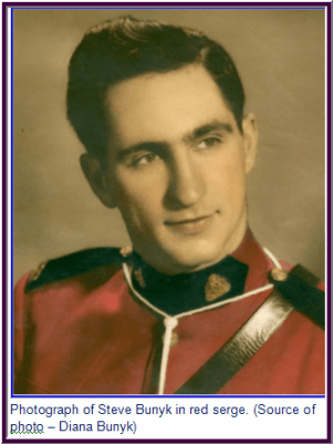 Photograph of Steve Bunyk - RCMP member at the time of his graduation