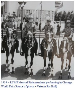 Photograph of the RCMP Members at the Chicago World Fair