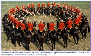 Photograph of RCMP Musical Ride performing the dome