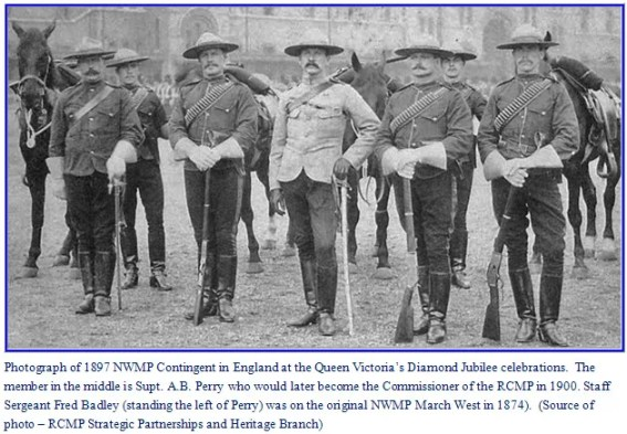 Photograph of NWMP Delegation to Queen Victoria's Diamond Jubilee