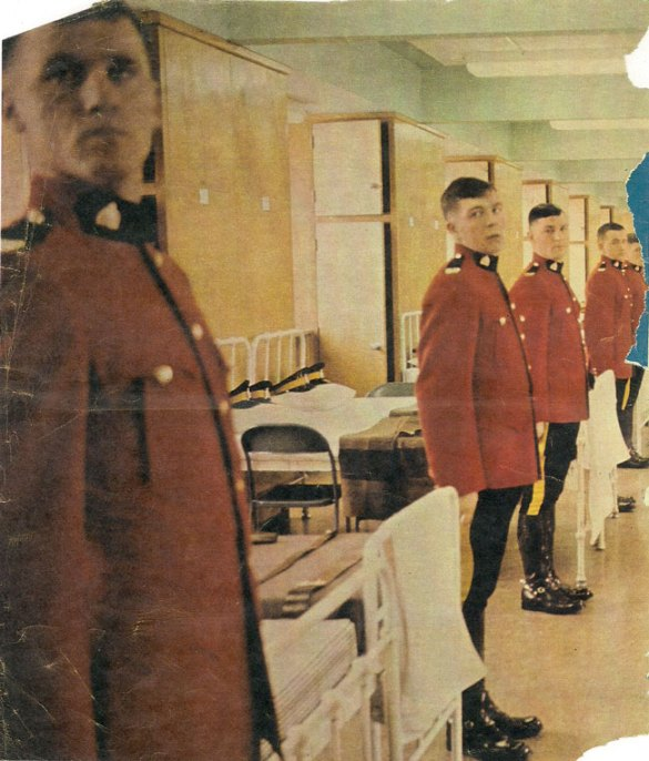 Photograph of 1971 Star Weekly newspaper of the RCMP