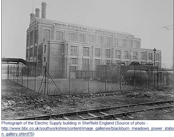 Photograph of the old Sheffield Electric Plant
