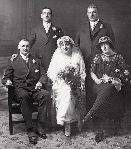 Wedding photograph of Rachel Jones and RCMP Cst. William Howe