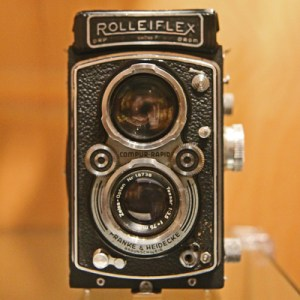 Photograph of a Rolleiflex camera