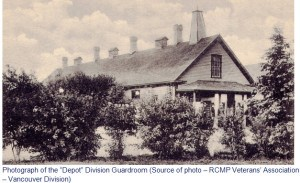 """Photograph of the RNWMP """"Depot"""" Division Guardroom in Regina."""