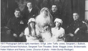 Photograph of Maggie Jones & Richard Nicholson wedding photo