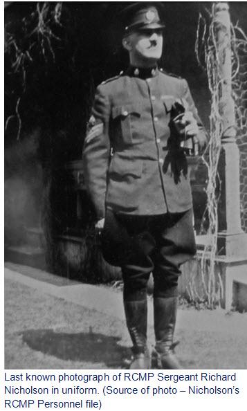 Photograph of RCMP Sergeant Richard Nicholson