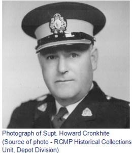 Photograph of RCMP Supt. Howard Cronkhite
