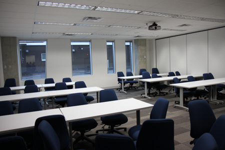 Photograph of one of three class room contained within the main building.