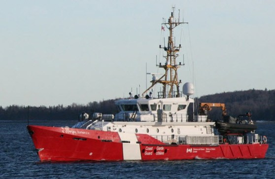 Photograph of the Canadian Coast Guard Ship - Corporal Theater Cross of Valour (Source of photo - Mac Mackay)