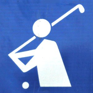 photograph of a golf symbol
