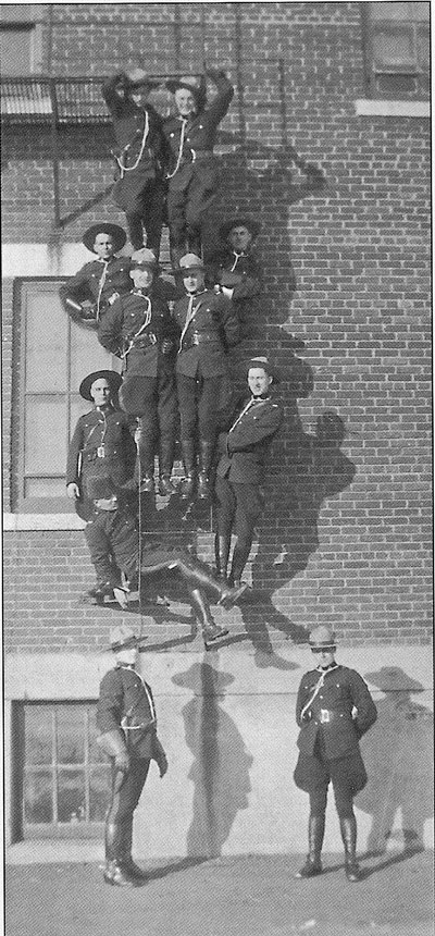 Photograph of RCMP members in training (Source of photo - Ric Hall's Photo Collection)