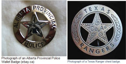 Photograph of the Alberta Provincial Police and the Texas Rangers.