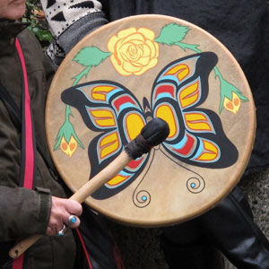 Photograph of a native drum