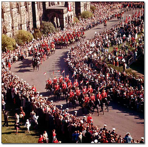 1957 - Queen's visit to Ottawa in 1957 (Source of photo - Ric Hall's Photo Collection).