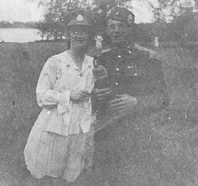 Photograph of Private Sidney Floyd and Helena McNelly taken in Ireland before Sidney left to immigrate to Canada and join the RCMP (Source of photo - Ric Hall's Photo Collection)