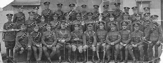 Photograph of the 2nd King Edwards Horse Regiment - British Cavalry Regiment during World War I (Source of photo - Rich Hall's Photo Collection)
