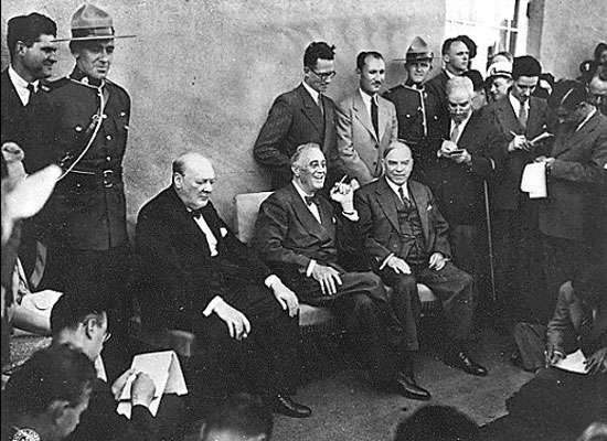 Photograph of the 1943 Allied Leader's Meeting in Canada (Source of photo - Ric Hall's Photo Collection)