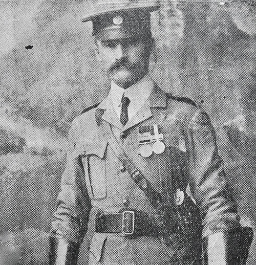 Photograph of Captain Edward Hilliam in South Africa with the Cape Mounted Police (Source of photo - RCMP Veterans' Association - Vancouver Division's photo collection)