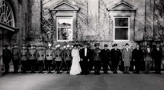 Quebec City - Photo President John F. Kennedy, his wife Jackie and members of the RCMP Escort (Source of photo - Raoul Carriere's family photo collection)