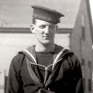 "Photograph of an unknown RCMP Marine Services member (Source of photo - RCMP Historical Collections Unit - ""Depot"" Division)"
