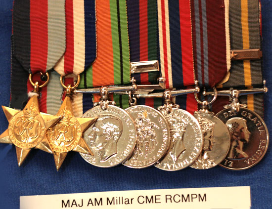 Medals---Major-AM-Millar-(SH-of-C-&-RCMP)