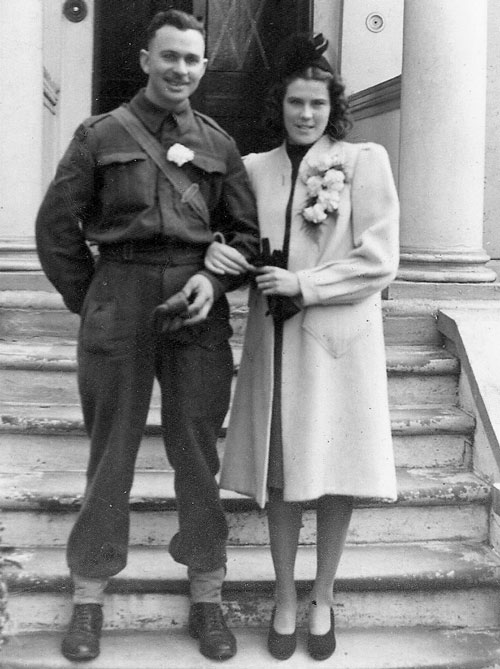 During World War II and a member of No.1 Provost Corps - William Warner marries Lilly (Source of photo - Ric Hall's Photo Collection)