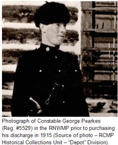 "Photograph of ex-RNWMP Constable George Randolph Pearkes (Reg. #5529) (Source of photo - RCMP Historical Collections Unit - ""Depot"" Division)"