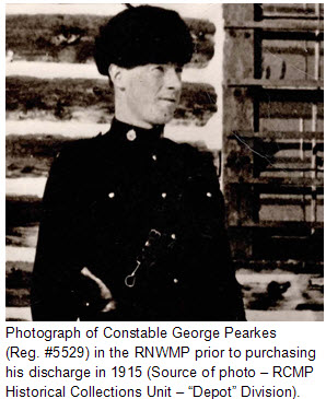 """Photograph of ex-RNWMP Constable George Randolph Pearkes (Reg. #5529) (Source of photo - RCMP Historical Collections Unit - """"Depot"""" Division)"""