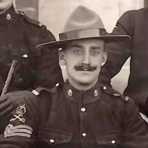 "Photograph of the ""Depot"" Riding Master as a Sgt. - Tim Griffin.  Shortly after this photograph was taken, he was promoted to Sergeant Major (RCMP Historical Collections Unit - ""Depot"" Division)."