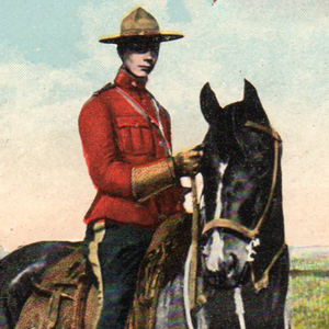 Photograph of RNWMP member with his horse (Source of photo - Ric Hall's photo collection)