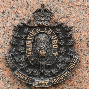 Photograph of a Royal North West Mounted Police crest (Source of photo - Sheldon Boles)