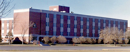 "Photograph of the 2nd ""B"" Block at the RCMP Depot Division in Regina (Source of photo - Ric Hall's Photo Corner)."