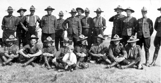 Photograph of RNWMP members (Source of photo - Ric Hall's Photo Collection).
