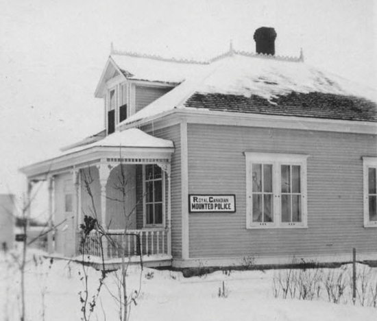 Photograph of an RCMP Office (Source of photo - Ric Hall's Photo Collection).