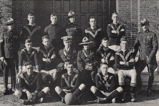 1919 - Photograph of the Regina RCMP Rugby Football Team (Source of photo - Ric Hall's Photo Collection)