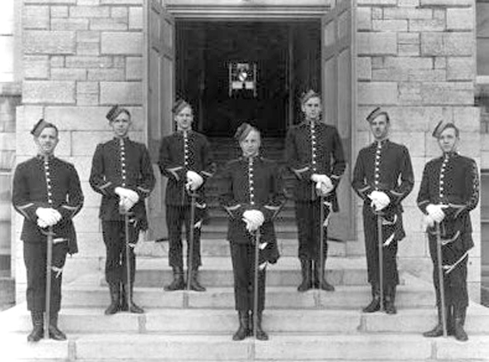 1880 - Photograph of Royal Military College of Canada members.