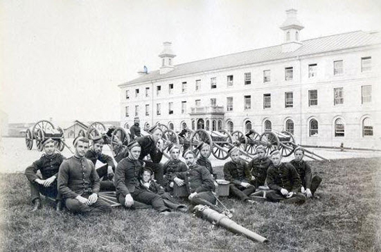 1885 - Photograph of Royal Military College of Canada members at Kingston Ontario.