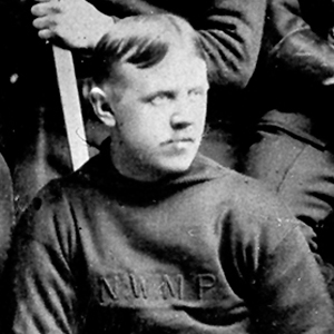 1902 - Photograph of a North West Mounted Police hockey player
