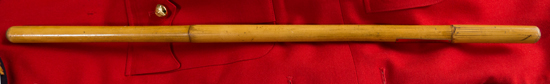 Photograph of an RCMP Officer's bamboo cane (Source of photo - Sheldon Boles).